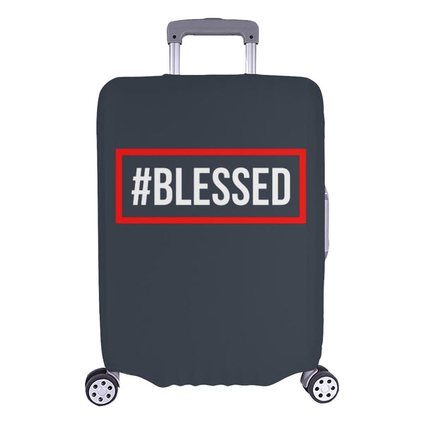 "#Blessed Christian Travel Luggage Cover Suitcase Protector Fits 18""-28"" Baggage-L-Grey-JoyHip.Com"