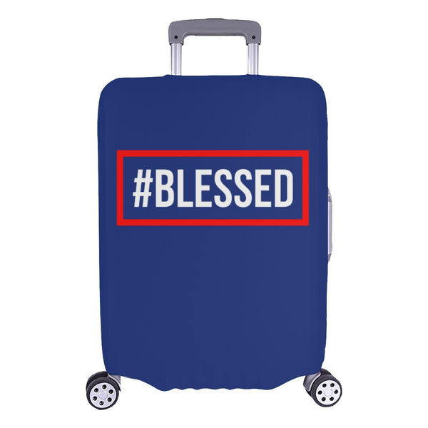 "#Blessed Christian Travel Luggage Cover Suitcase Protector Fits 18""-28"" Baggage-L-Navy-JoyHip.Com"
