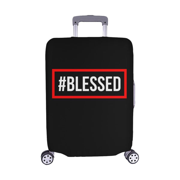"#Blessed Christian Travel Luggage Cover Suitcase Protector Fits 18""-28"" Baggage-M-Black-JoyHip.Com"