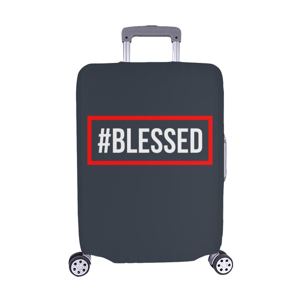 "#Blessed Christian Travel Luggage Cover Suitcase Protector Fits 18""-28"" Baggage-M-Grey-JoyHip.Com"