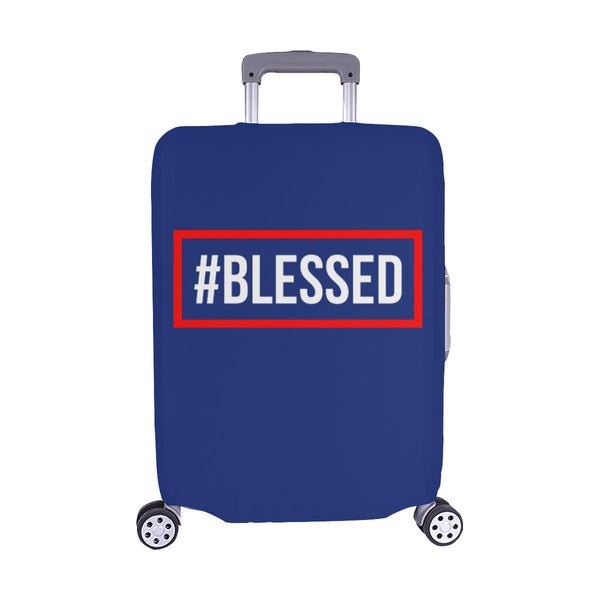 "#Blessed Christian Travel Luggage Cover Suitcase Protector Fits 18""-28"" Baggage-M-Navy-JoyHip.Com"