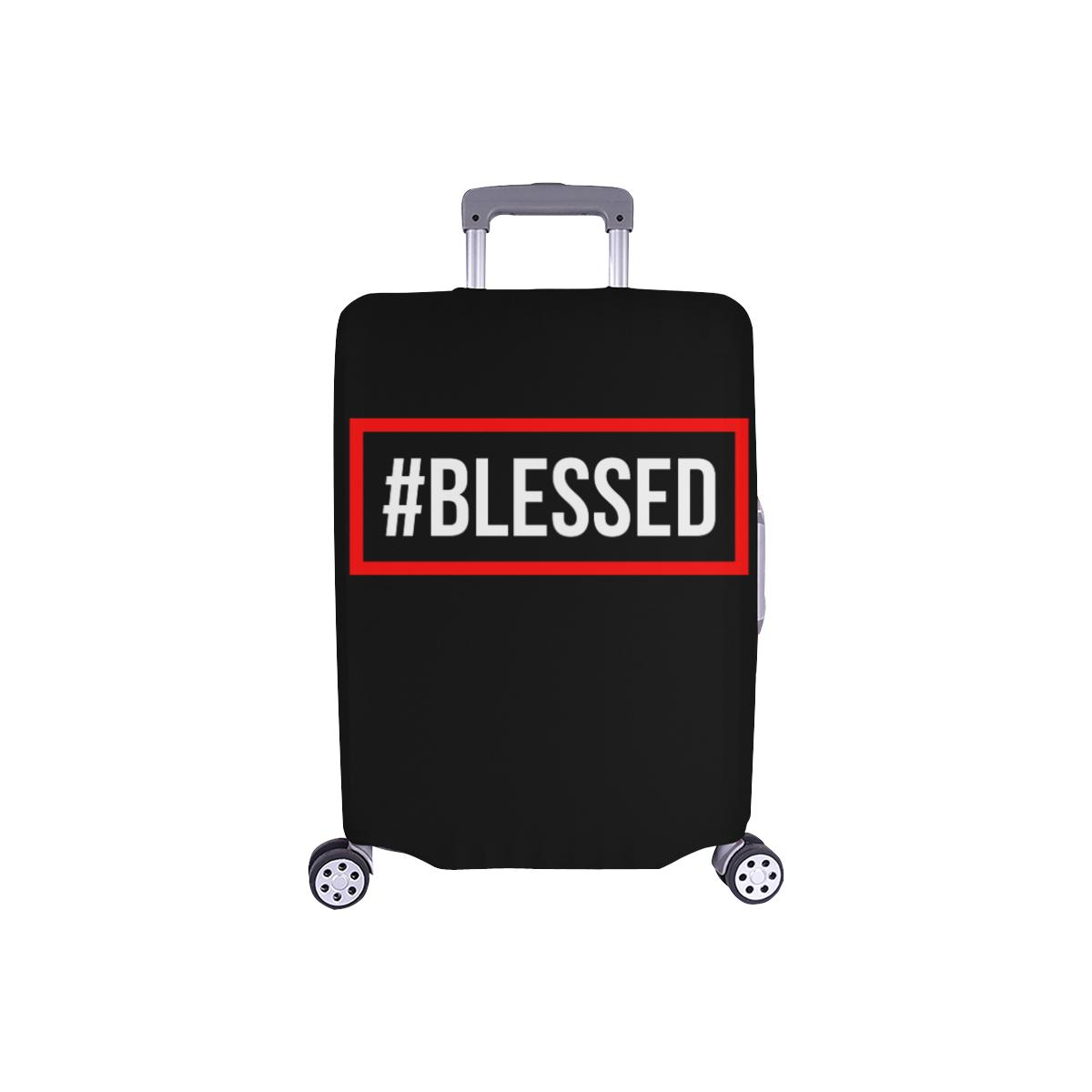 "#Blessed Christian Travel Luggage Cover Suitcase Protector Fits 18""-28"" Baggage-S-Black-JoyHip.Com"