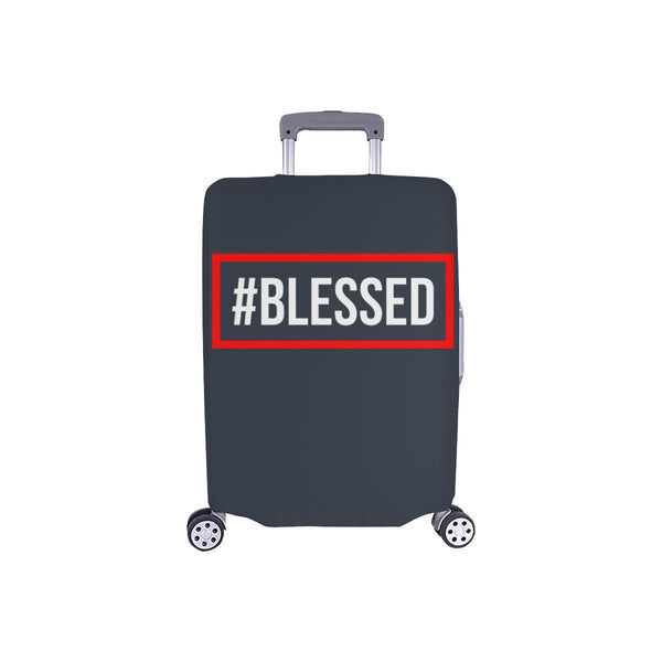 "#Blessed Christian Travel Luggage Cover Suitcase Protector Fits 18""-28"" Baggage-S-Grey-JoyHip.Com"