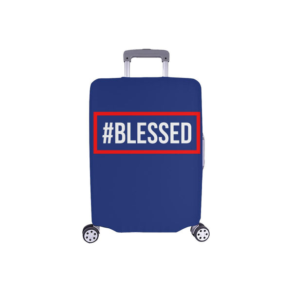 "#Blessed Christian Travel Luggage Cover Suitcase Protector Fits 18""-28"" Baggage-S-Navy-JoyHip.Com"