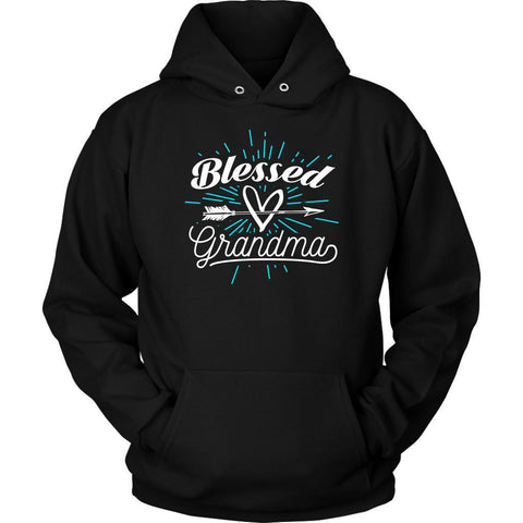 Blessed Grandma Best Grandmother Gift Ideas Unique Gigi Nana Hoodie-T-shirt-Unisex Hoodie-Black-JoyHip.Com