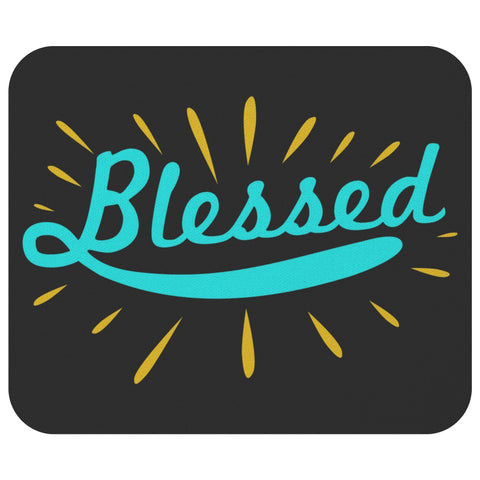 Blessed Mouse Pad Unique Christian Gifts Ideas Religious Spiritual Presents-Mousepads-Black-JoyHip.Com