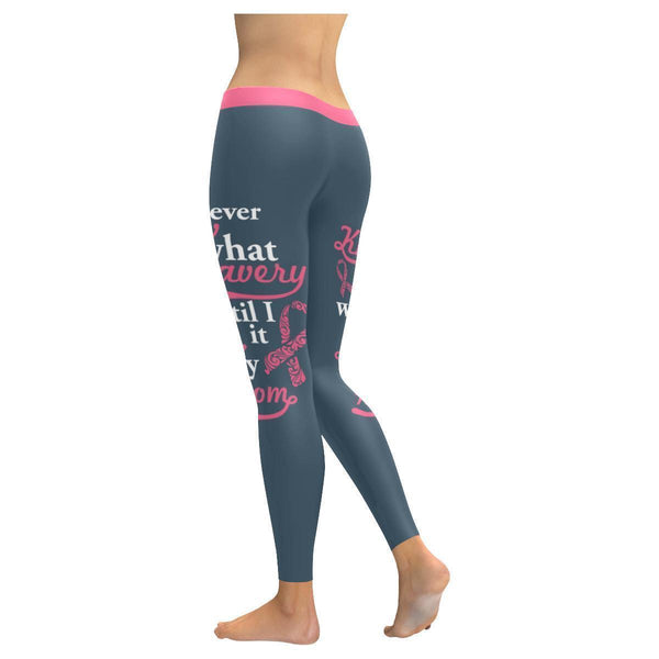 Bravery I Saw In My Mom Breast Cancer Awareness Pink Ribbon UPF40 Women Leggings-JoyHip.Com
