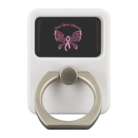 Breast Cancer Awareness Butterfly Pink Phone Ring Holder Kickstand Gifts Idea-Ringr - Multi-Tool Accessory-Ringr - Multi-Tool Accessory-JoyHip.Com