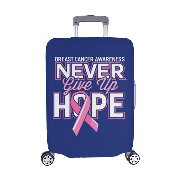 Breast Cancer Awareness Never Give Up Hope Travel Luggage Cover Protector Gifts-M-Navy-JoyHip.Com
