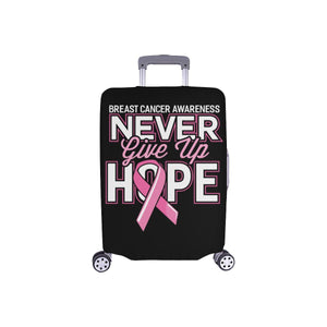 Breast Cancer Awareness Never Give Up Hope Travel Luggage Cover Protector Gifts-S-Black-JoyHip.Com