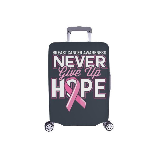 Breast Cancer Awareness Never Give Up Hope Travel Luggage Cover Protector Gifts-S-Grey-JoyHip.Com