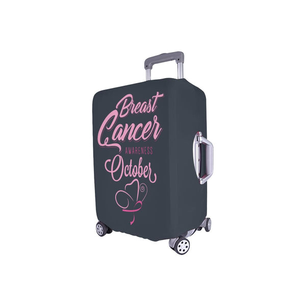 "Breast Cancer Awareness October Travel Luggage Cover Suitcase Protector 18""-28""-JoyHip.Com"