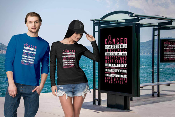 Breast Cancer Changes People Appreciates More Quickly Gift Ideas Long Sleeve-T-shirt-JoyHip.Com