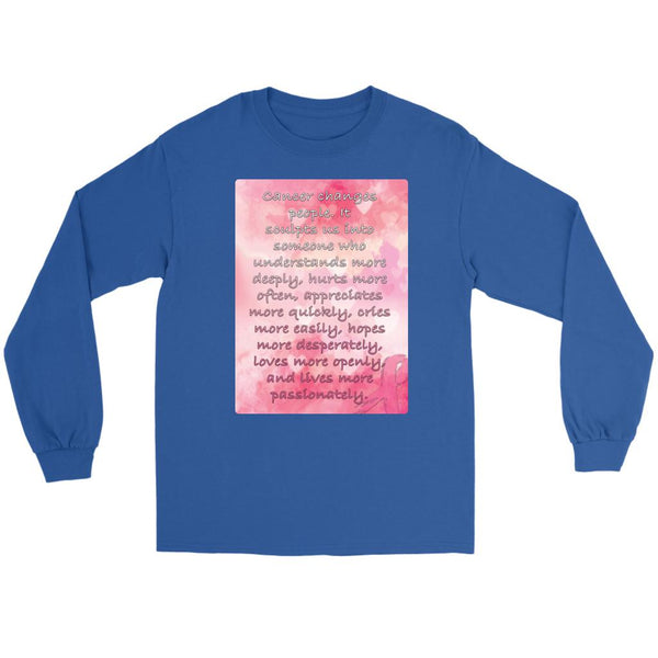 Breast Cancer Changes People Understand More Deeply Cool Gift Ideas Long Sleeve-T-shirt-Gildan Long Sleeve Tee-Royal Blue-JoyHip.Com