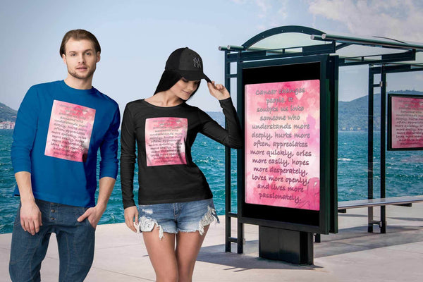 Breast Cancer Changes People Understand More Deeply Cool Gift Ideas Long Sleeve-T-shirt-JoyHip.Com