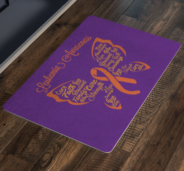 Butterfly Orange Ribbon Leukemia Cancer 18X26 Indoor Door Mat Room Entryway Rug-Doormat-JoyHip.Com