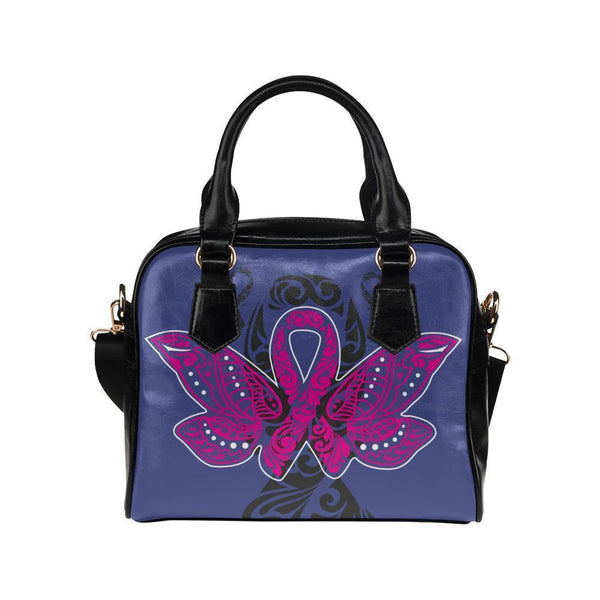 Butterfly Pink Ribbon V2 Breast Cancer Awareness Shoulder/Crossbody Handbags For Women (8 colors)-One size-Orchid-JoyHip.Com