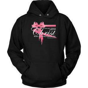 Can Do All Things Through Christ Who Strengthens Me Philippians 4:13 Hoodie-T-shirt-Unisex Hoodie-Black-JoyHip.Com