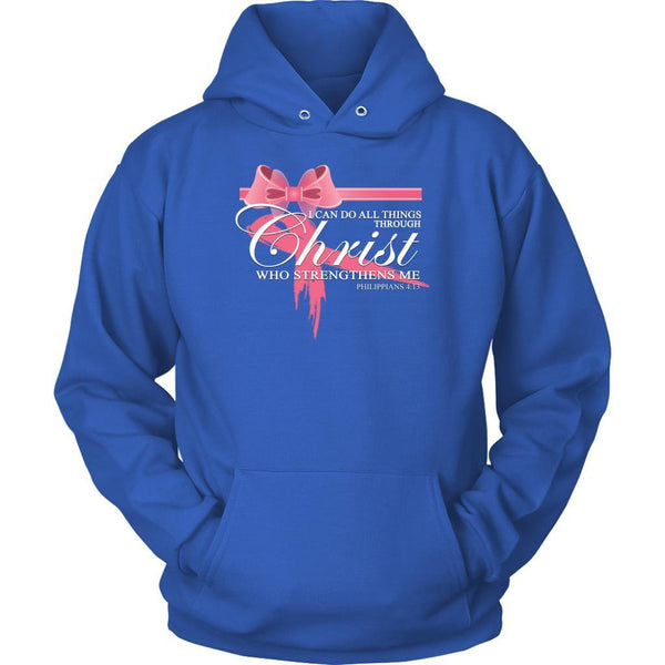 Can Do All Things Through Christ Who Strengthens Me Philippians 4:13 Hoodie-T-shirt-Unisex Hoodie-Royal Blue-JoyHip.Com