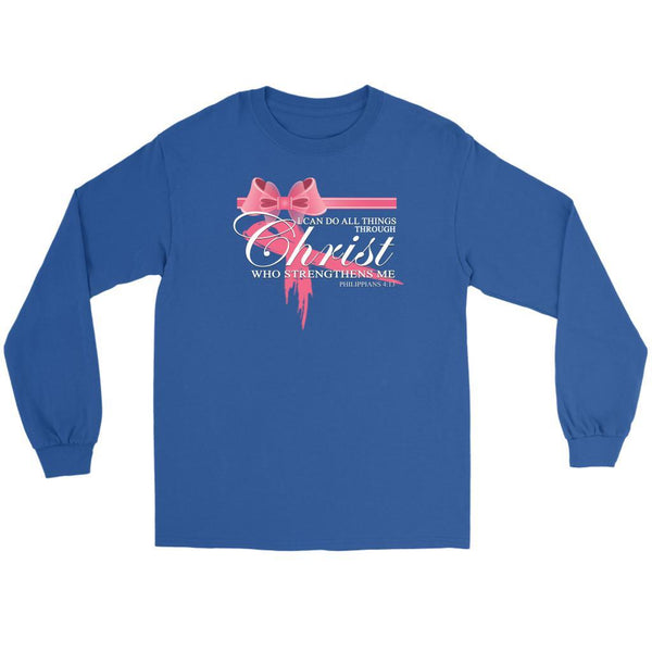 Can Do All Things Through Christ Who Strengthens Me Philippians4:13 Long Sleeve-T-shirt-Gildan Long Sleeve Tee-Royal Blue-JoyHip.Com