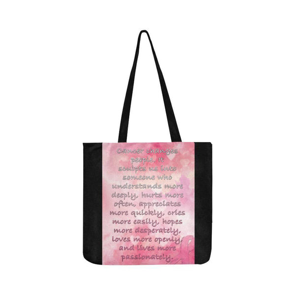 Cancer Changes People Loves Openly Breast Cancer Grocery Reusable Produce Bags-One Size-Black-JoyHip.Com
