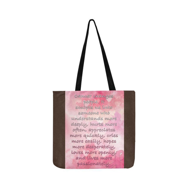 Cancer Changes People Loves Openly Breast Cancer Grocery Reusable Produce Bags-One Size-Brown-JoyHip.Com