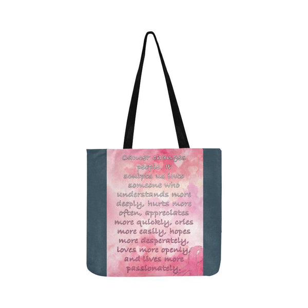 Cancer Changes People Loves Openly Breast Cancer Grocery Reusable Produce Bags-One Size-Grey-JoyHip.Com