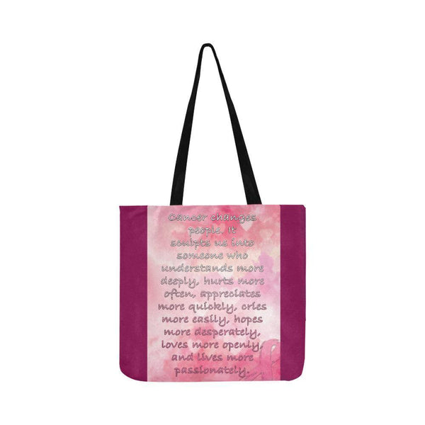 Cancer Changes People Loves Openly Breast Cancer Grocery Reusable Produce Bags-One Size-Maroon-JoyHip.Com