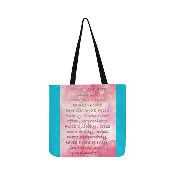 Cancer Changes People Loves Openly Breast Cancer Grocery Reusable Produce Bags-One Size-Turquoise-JoyHip.Com