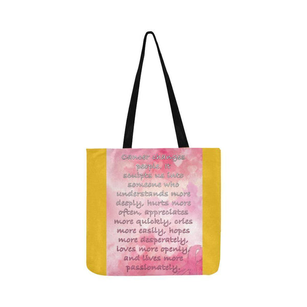 Cancer Changes People Loves Openly Breast Cancer Grocery Reusable Produce Bags-One Size-Yellow-JoyHip.Com