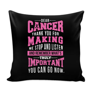 Cancer Making Important Cool Awesome Unique Breast Cancer Awareness Pink Ribbon Decorative Throw Pillow Cases Cover(9 Colors)-Pillows-Black-JoyHip.Com