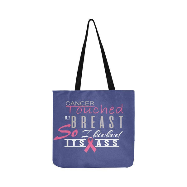 Cancer Touched My Breast So I Kicked Its Ass Breast Cancer Reusable Produce Bags-One Size-Orchid-JoyHip.Com