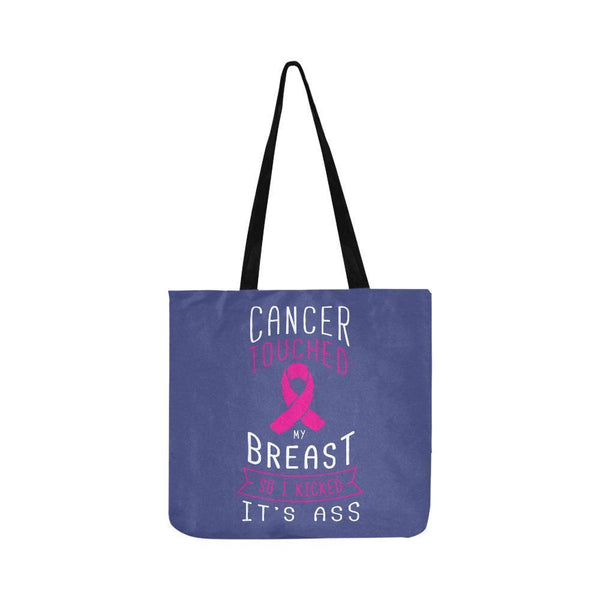 Cancer Touched My Breast So I Kicked Its Ass Reusable Shopping Produce Bags-One Size-Orchid-JoyHip.Com