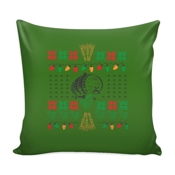 Classic Ugly Holiday Christmas sweater For Craft Brewers & Homebrewers Beer Lover Brewmaster Funny Festive Decorative Throw Pillow Cases Cover(4 Colors)-Pillows-Green-JoyHip.Com