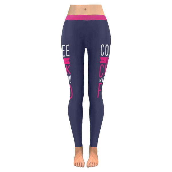 Coffee Because Crack Will Get You Fired Humor Gag Funny Quotes Womens Leggings-JoyHip.Com