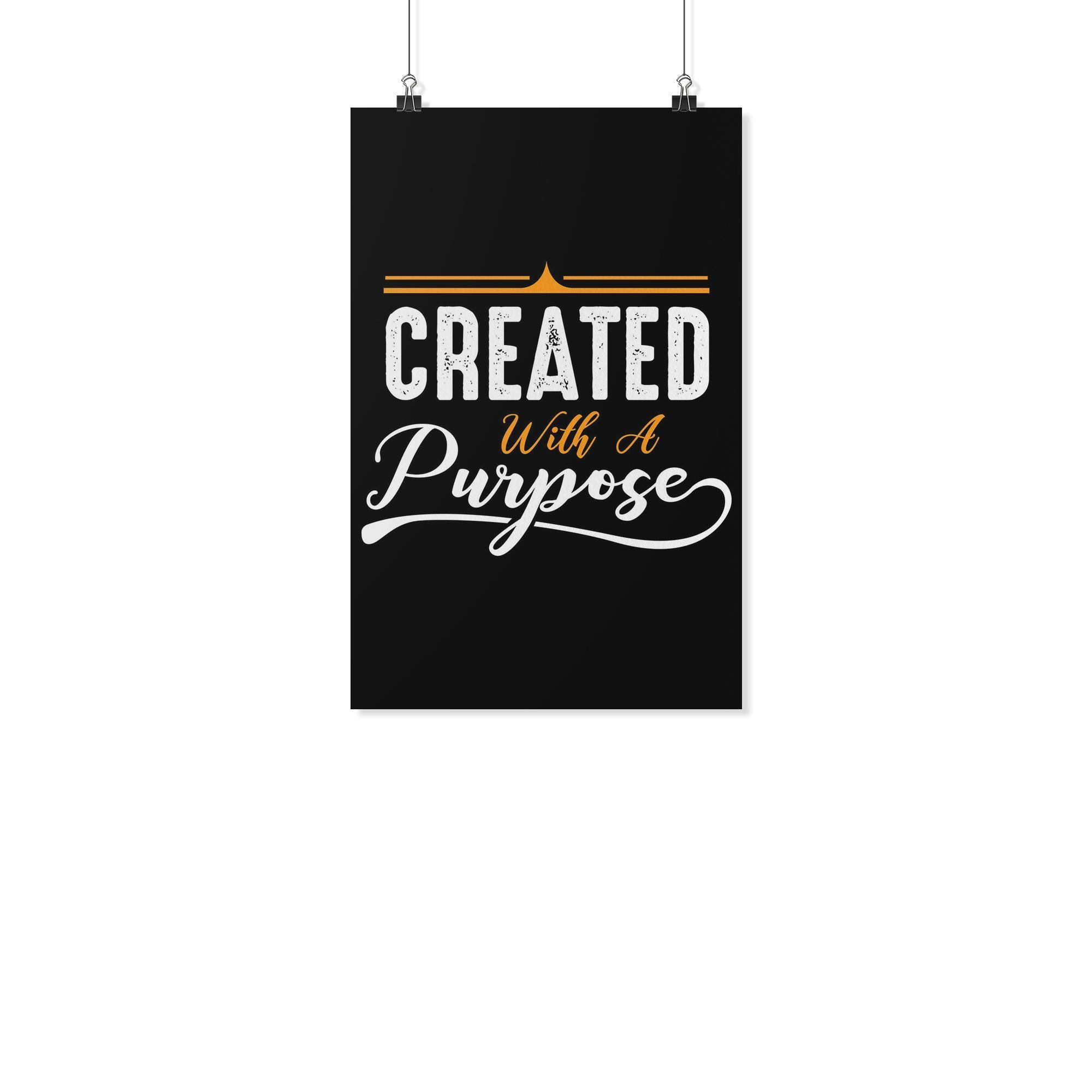 Created With A Purpose Christian Poster Wall Art Room Decor Gift Idea Religious-Posters 2-11x17-JoyHip.Com