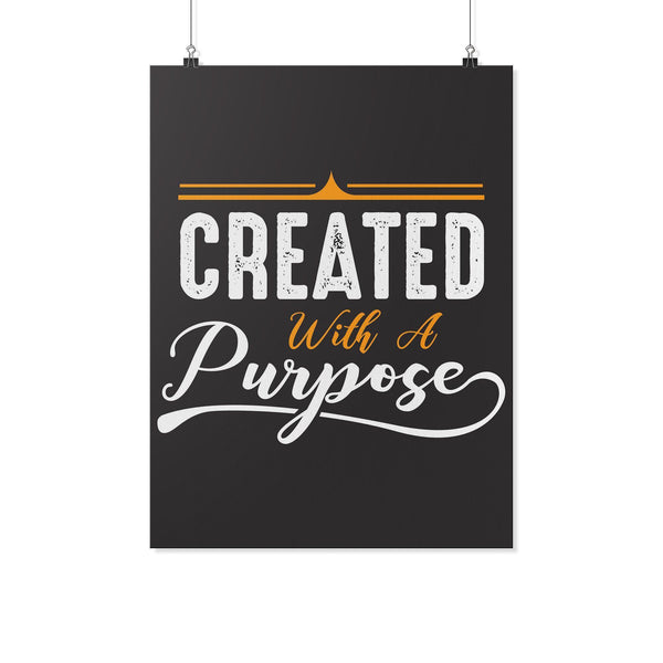 Created With A Purpose Christian Poster Wall Art Room Decor Gift Idea Religious-Posters 2-18x24-JoyHip.Com