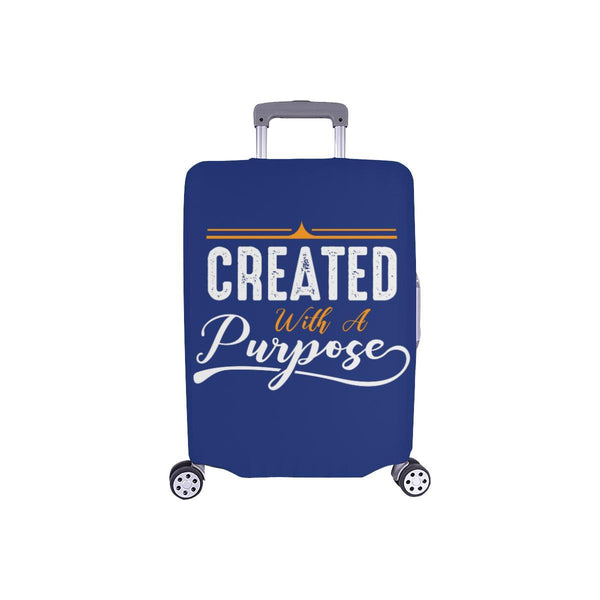 Created With A Purpose Christian Travel Luggage Cover Suitcase Protector-S-Navy-JoyHip.Com