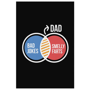 Dad Bad Jokes Smelly Farts Funny Gifts For Men Canvas Wall Art Decor Fathers Day-Canvas Wall Art 2-8 x 12-JoyHip.Com