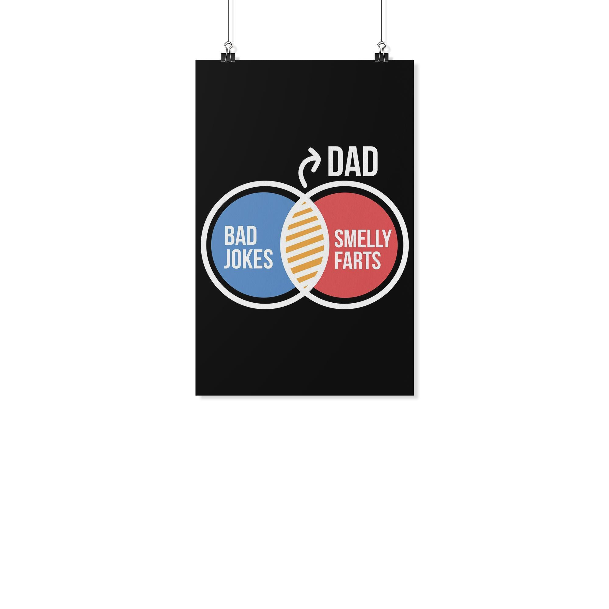 Dad Bad Jokes Smelly Farts Funny Gifts For Men Poster Wall Art Decor G