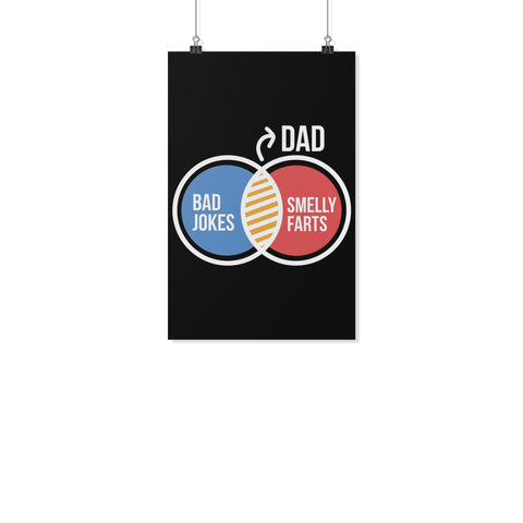 Dad Bad Jokes Smelly Farts Funny Gifts For Men Poster Wall Art Decor Gift Ideas-Posters 2-11x17-JoyHip.Com
