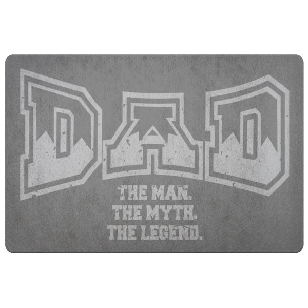 Dad The Man The Myth The Legend 18X26 Front Door Mat Funny New Dad Gifts Ideas-Doormat-Grey-JoyHip.Com