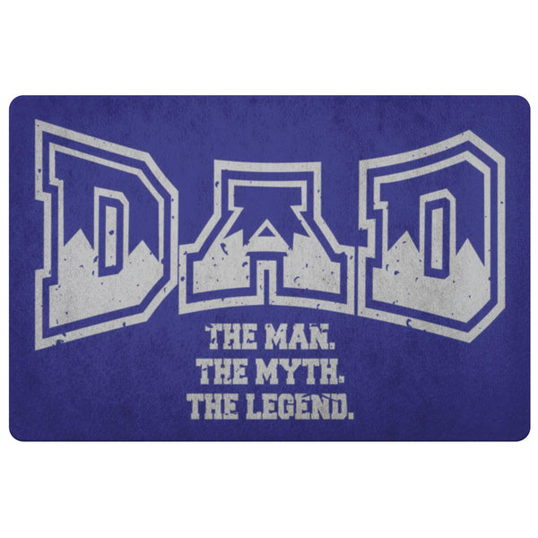 Dad The Man The Myth The Legend 18X26 Front Door Mat Funny New Dad Gifts Ideas-Doormat-Navy-JoyHip.Com