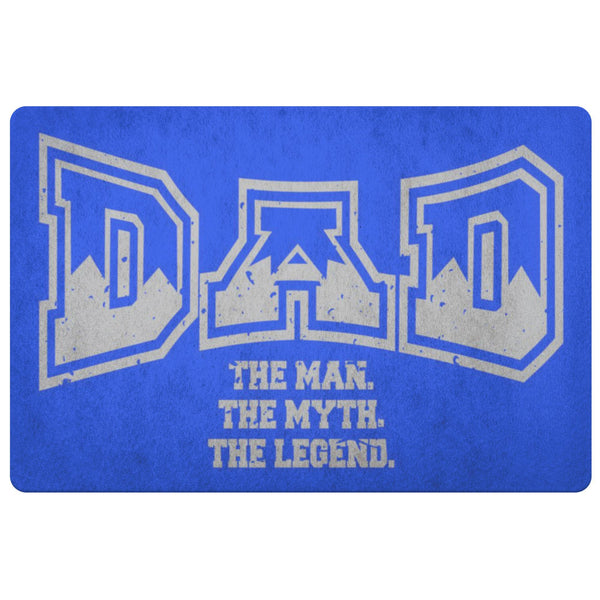 Dad The Man The Myth The Legend 18X26 Front Door Mat Funny New Dad Gifts Ideas-Doormat-Royal Blue-JoyHip.Com