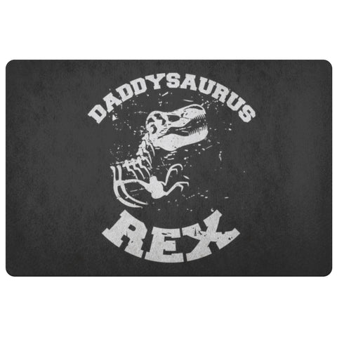 Daddysaurus T-Rex 18X26 Front Door Mat Funny New Dad Gifts Ideas 1st Fathers Day-Doormat-Black-JoyHip.Com