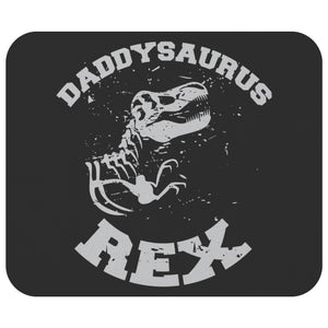 Daddysaurus T-Rex Mouse Pad New Dad Gifts Ideas Funny Fathers Day Unique Cool-Mousepads-Black-JoyHip.Com