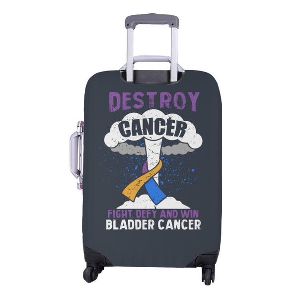 Destroy Cancer Fight Defy And Win Bladder Cancer Travel Luggage Cover Suitcase-JoyHip.Com