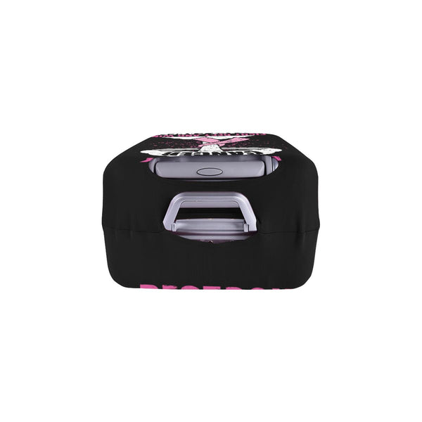 Destroy Cancer Fight Defy And Win Breast Cancer Travel Luggage Cover Suitcase-JoyHip.Com