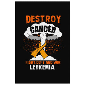 Destroy Cancer Fight Defy & Win Bladder Cancer Awareness Canvas Wall Art Decor-Canvas Wall Art 2-8 x 12-JoyHip.Com