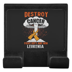 Destroy Cancer Fight Defy & Win Leukemia Cancer Phone Monitor Holder Laptop Gift-Moniclip-Moniclip-JoyHip.Com